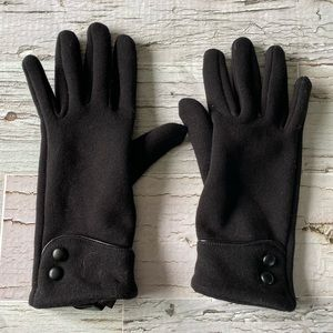 Stretch gloves with touch screen points
